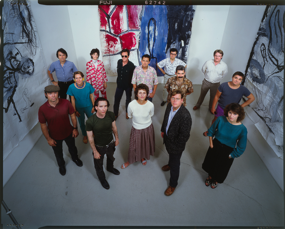 Artists at the Rosemund Felsen Gallery (1987) for LA STYLE.4x5 Kodak Extachome transparency