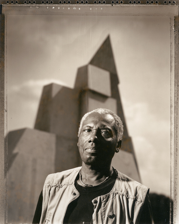 John Outterbridge, public art site in Los Angeles, CA, 199420x24, unique tone silver gelatin print, printed in 1995