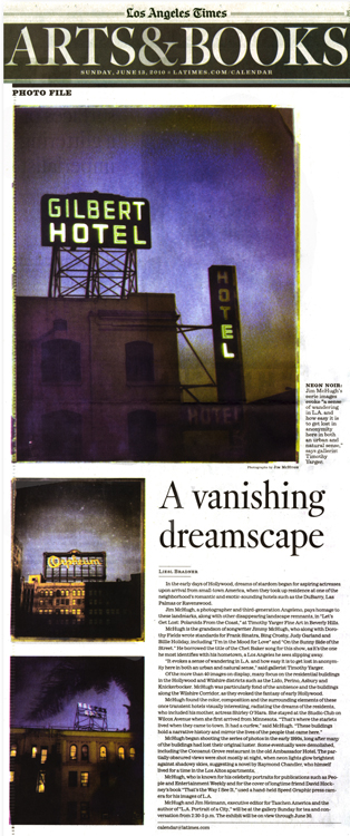 Los Angeles Times | A Vanishing Dreamscape(download PDF)