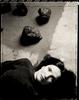 Lita Albuquerque in her studio near Marina Del Rey, Los Angeles. T-55 Polaroid film - 24 x 20 toned silver gelatin print - unique.