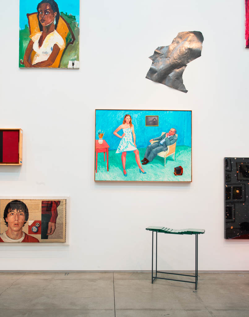 The TOUCH exhibition included many original art works loan by artists photographed by Jim McHugh over four decades. David Hockney's {quote}The Photographer and His Daughter{quote} was painted in 2005 of the photographer and his daughter Chloe.