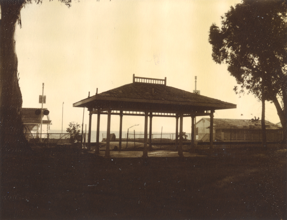 railroad stop at Miramar Beach - circa late 1800s Montecito, CA.