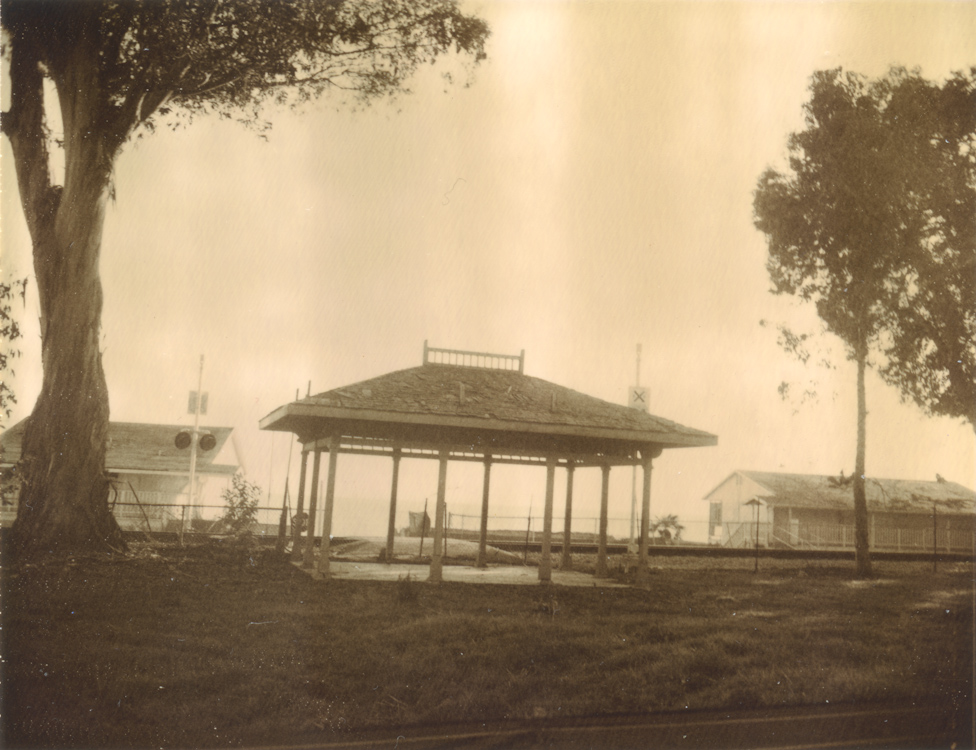 Train stop at Miramar Beach - circa late 1800s Montecito, CA. demolished 2013