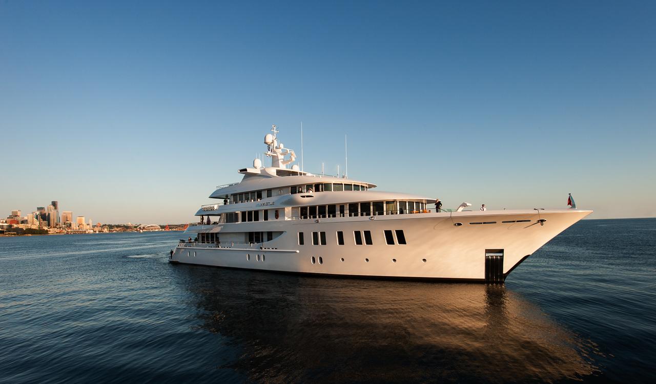 The 66-meter superyacht Invictus