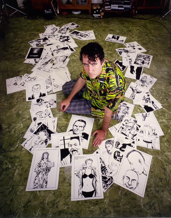 Raymond Pettibon at his mother's house in Long Beach, CA. 1992. 4x5 Kodak Extachrome transparency - 24' x 20{quote} cibachrome print- unique