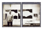 Thomas Demand photographed at his Culver City studio with Impossible Project 8x10 instant film.