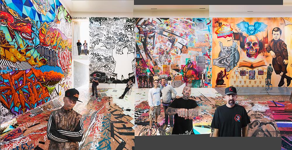 Left Panel: #1 of 3The Phantom Street Artist, Brian and Eva Sweeney, The Phantom, Miner, Bernhard Zünkeler, Trigz, Joe {quote}Prime{quote} Reza, and Axis.