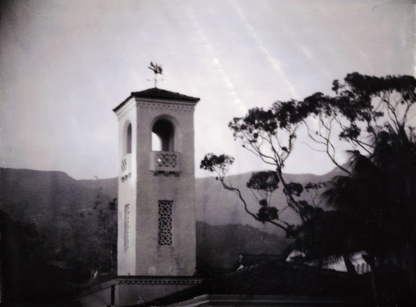 Built in the 1920s as the community's new and modern fire station it serves now as the town hall and an historic landmark. Polaroid T-55 capture -