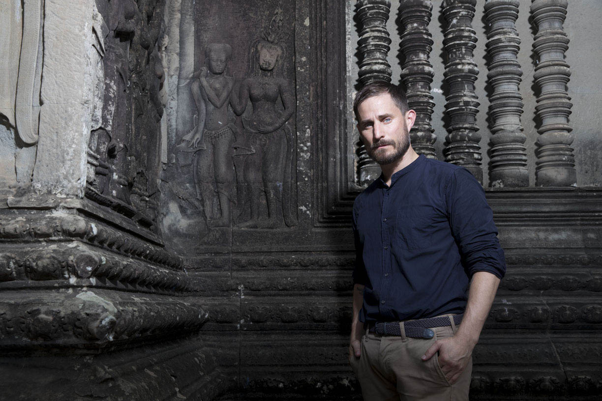 SIEM REAP, CAMBODIA - AUGUST 04: (EDITOR'S NOTE: Images only to be used with reference to HISTORY Germany.)  Clemens Schick poses for a photograph at Angkor Wat on August 4, 2017 in Siem Reap, Cambodia. (Photo by Brent Lewin/Getty Images for HISTORY Germany)