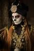 Voodoo Priestess Living Statue