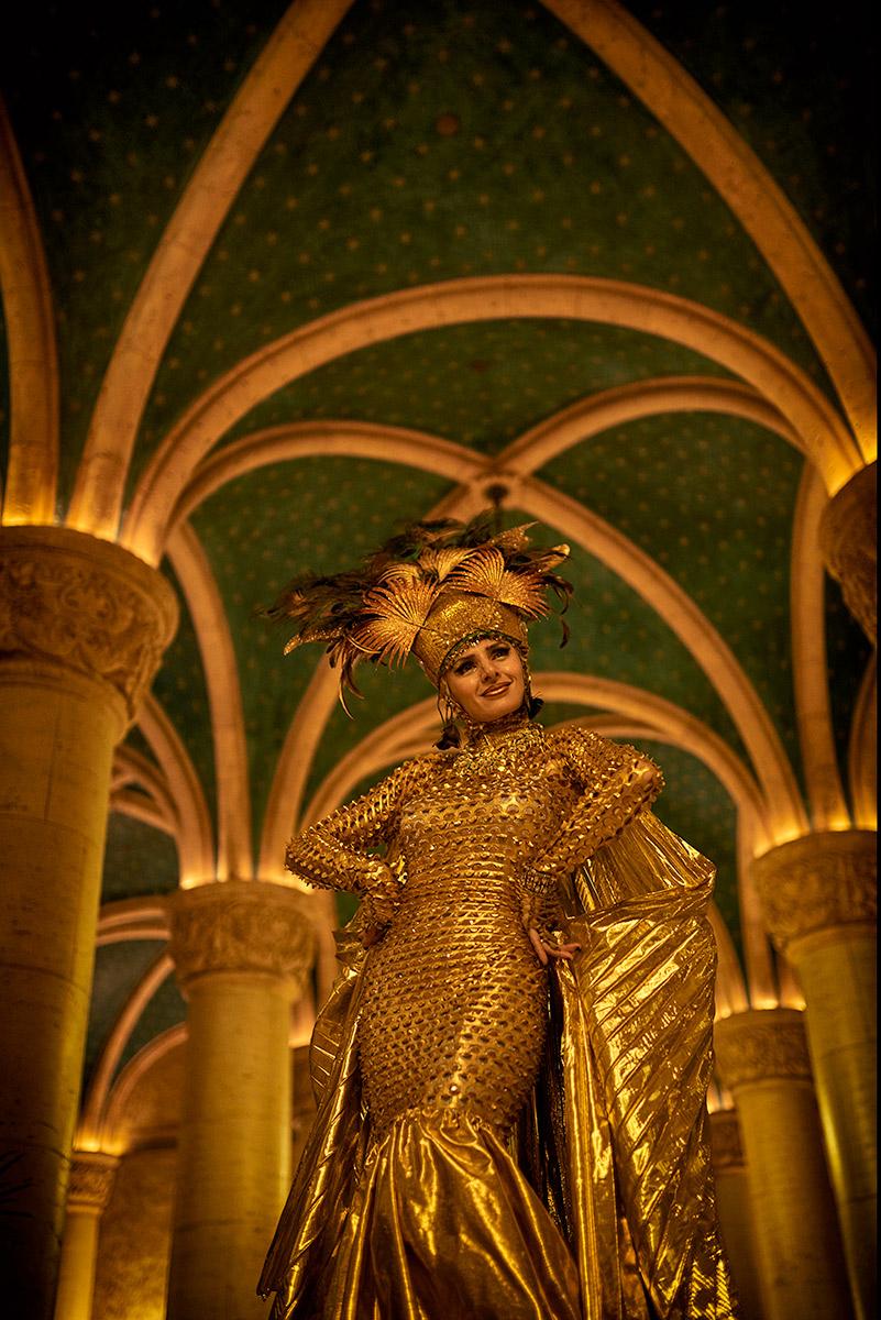 Golden Future Living Statue