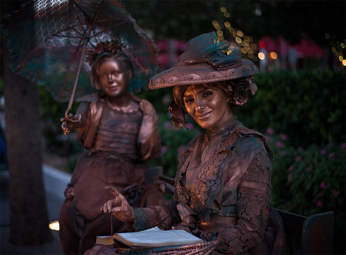 Literary Living Statue