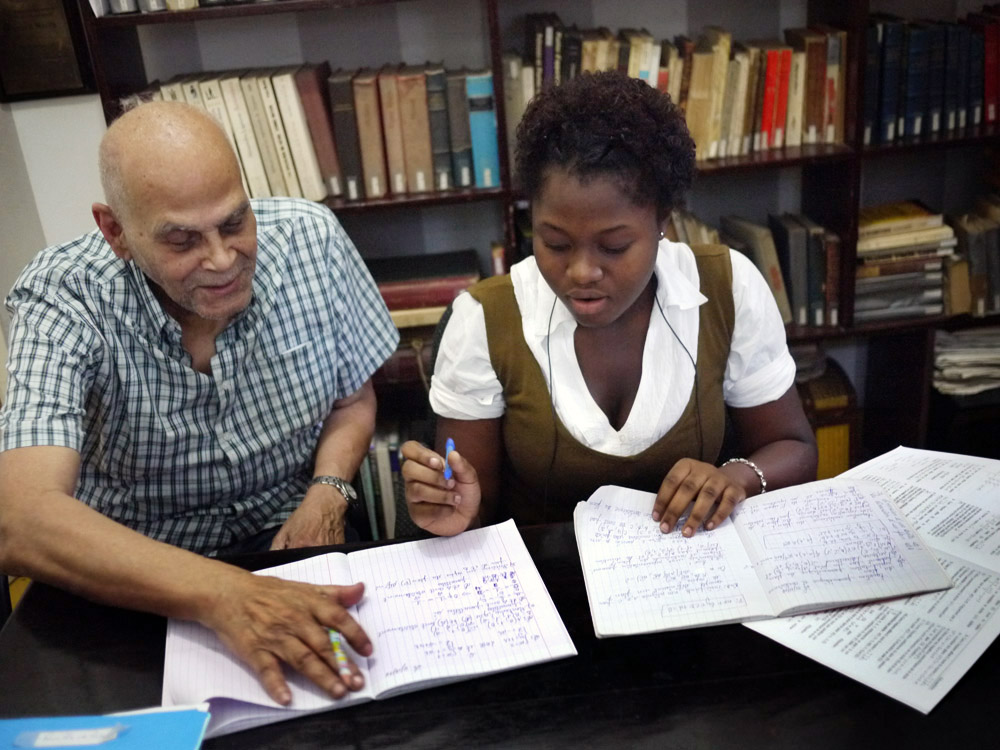 MAX PÉNETTE was born in Port-au-Prince in 1920 and has been an educator since age sixteen. Mr. Pénette studied civil engineering and mathematics in Haiti, Europe and the United States. He is the founder of College Max Pénette, and has taught in many schools in his long teaching career, including Ecole Polytechnique, Lycée Pétion and the Cours Georges Duhamel, now the French Lycée. Mr. Pénette is a proponent of civic participation, and has served as Dean of Ecole Normale Supérieure, Mayor of Pétionville, and President of the Rotary Club and the Rotary Foundation. At 93, Mr. Pénette remains an inspirational presence at the PRODEV office.
