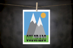 pURCHASE hEREcolorado... what's not to love?show your space a little mountain love with this 8x10 DoodleGirl Designs original  print.  it comes packaged in a cellophane sleeve with a cardboard backing.   crafted + printed in colorado, usa.