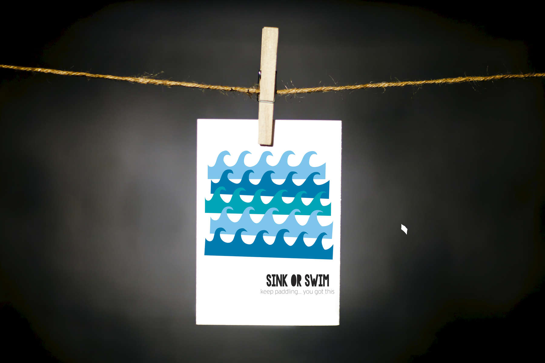 pURCHASE hEREsink or swim.  keep paddling... you got this.life has a tendency of throwing the occasional sh*t storm into the smooth groove of the day-to-day.  let's help remind eachother jst how strong + resilient we, as people, truly are.each card:is printed on 100# recycled + responsibly-sourced paper //measures 3.5{quote} x 5{quote} //is accompanied by a recycled kraft paper 4-bar envelope // professionally printed //individually packaged in sealed cellophane sleeve //crafted + printed in colorado, usa.