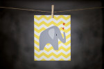 pURCHASE hEREthis super cute elephant is sure to spruce up any kid's room or nursery.  the 8{quote}x10{quote} print is an original DoodleGirl Designs illustration.  packaged with a cardboard backing // wrapped in a cellophane sleeve.crafted + printed in colorado, usa.