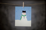 pURCHASE hEREneed a little winter cheer to spruce up your space?  this handsome little snowman is sure to do the trick!  this is an 8x10 doodlegirl designs original.  it comes wrapped in a cellophane sleeve with cardboard backing.although this print can certainly stand alone,he does look super cute nestled in between his buddies:  reindeer (check out here + snowcapped trees (check out here). crafted + printed in colorado, usa.