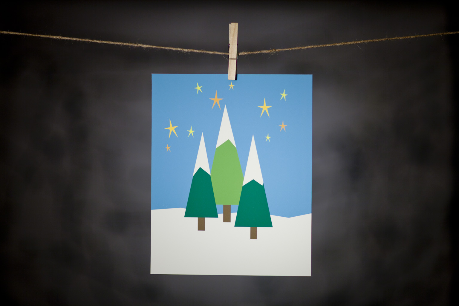 pURCHASE hEREneed a little winter cheer to spruce up your space?  these great trio of trees is sure to do the trick!  this is an 8x10 doodlegirl designs original.  it comes wrapped in a cellophane sleeve with cardboard backing.although this print can certainly stand alone, he does look super cute nestled in between his buddies:  reindeer (check out here) + snowman (check out here). crafted + printed in colorado, usa.
