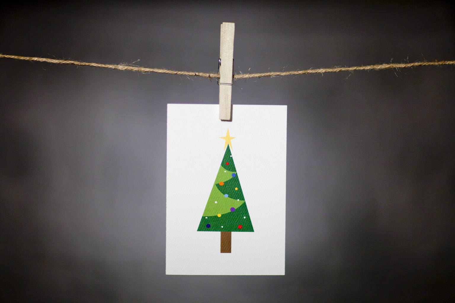 pURCHASE hEREnothing says 'tis the season quite like a brightly lit tree.  whether you order just one  for that special friend or you order a ton of them to send to all of your peeps, this card is sure to brighten anyone's day.   each card:is printed on 100# recycled + responsibly-sourced paper //measures 3.5{quote} x 5{quote} //is accompanied by a recycled kraft paper 4-bar envelope // professionally printed //individually packaged in sealed cellophane sleeve //crafted + printed in colorado, usa.