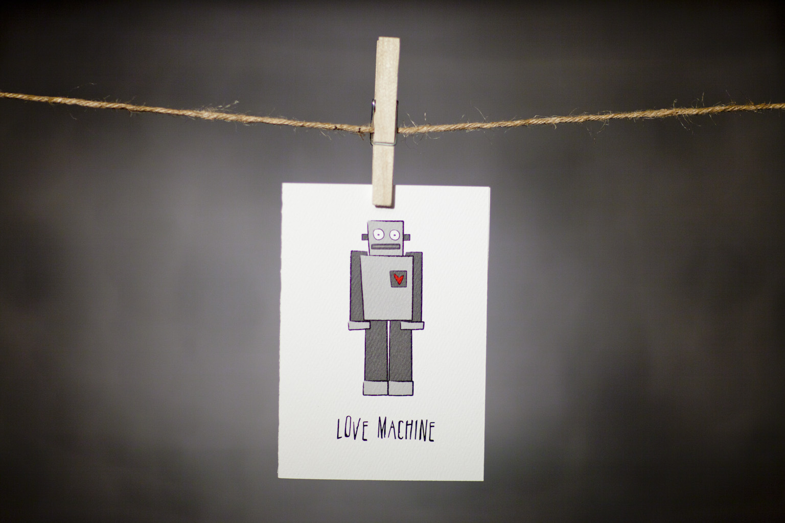pURCHASE hEREthis big lug is a total love machine (don't let his rough exterior fool you!).  you should really send this gem to your sweetie today, reminding them what a love machine they've turned into.  each card:is printed on 100# recycled + responsibly-sourced paper //measures 3.5{quote} x 5{quote} //is accompanied by a recycled kraft paper 4-bar envelope // professionally printed //individually packaged in sealed cellophane sleeve //crafted + printed in colorado, usa.