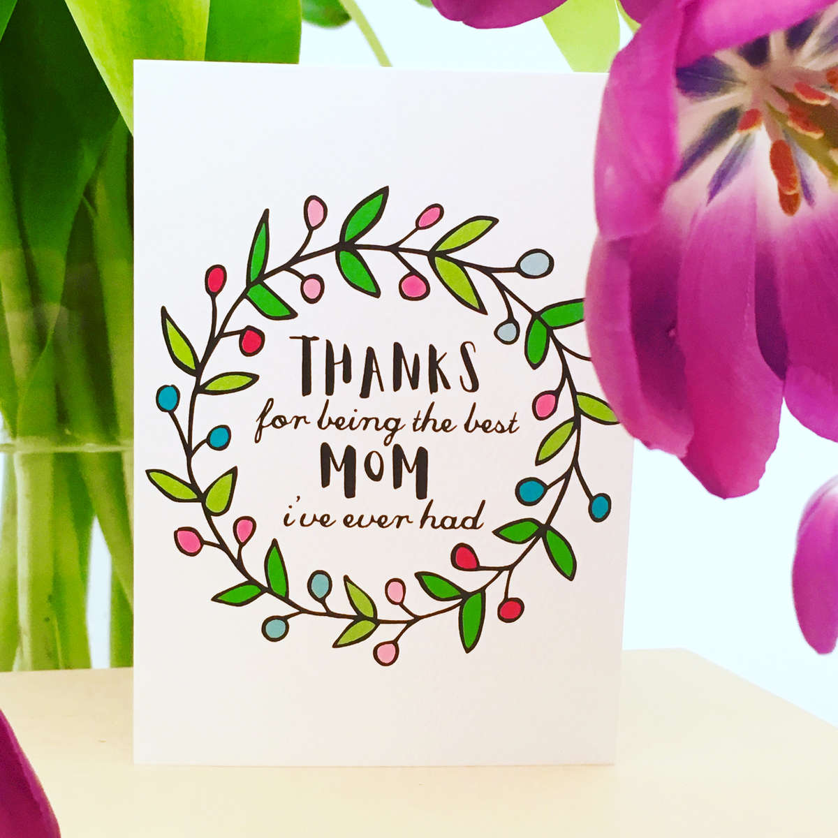 Thanks Mom Mothers Day Fathers Day Greeting Cards Super Fun