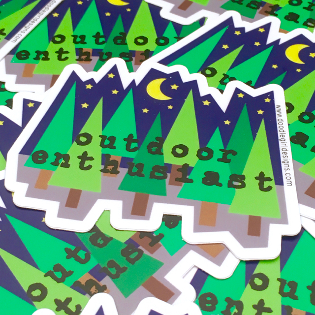 purchase herefun custom stickers // nature sticker // tree sticker // colorado sticker // hipster sticker // vinyl sticker // gift for nature loverthese super fun vinyl stickers are the perfect way to customize your world.stick 'em on your favorite notebook or sketchbook, water bottle or bike, car or laptop // they are made of super awesome quality + can add a little flair to just about anything.each sticker measures 3{quote} x 2.64{quote}made from durable vinyl // laminate coating protects from water, sunlight + scratching.
