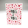 purchase heresweet + simple, this card boasts so much love for the new mrs + mrs.each card:is printed on 100# recycled + responsibly-sourced paper //measures 3.5{quote} x 5{quote} //is accompanied by a recycled kraft paper 4-bar envelope //professionally printed //individually packaged in sealed cellophane sleeve //crafted + printed in colorado, usa.