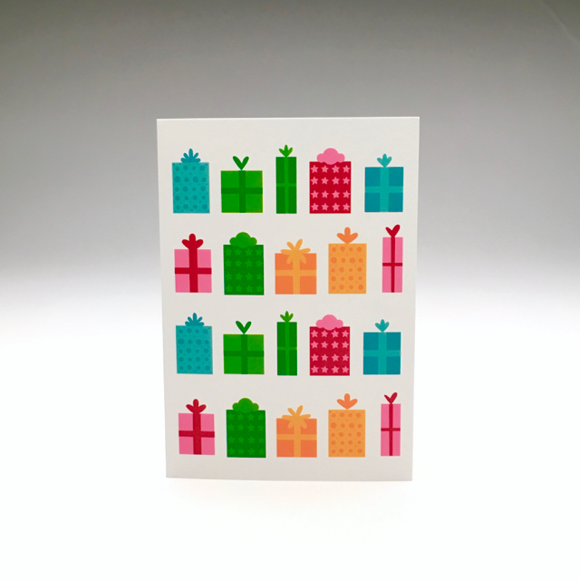purchase herethis cheerful holiday card would be a great addition to anyone's mailbox this season // snag yours now while they're still in stock!each card is:printed on 100# recycled + responsibly-sourced paper //measuring 3.5{quote} x 5{quote} //accompanied by a recycled kraft 4-bar envelope //professionally printed on a digital press //individually packaged in sealed cellophane sleeve //made with mad love in colorado, usa.