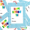 purchase herehappy birthday yo! these super fun new gift tags are bright + cheery + the perfect addition to any gift.set of 8 gift tags:-measure approximately 2{quote} x 3{quote} each-are printed on 61 lb bright white card stock-includes coordinating baker's twine-come packaged in an enclosed cello sleeve------------crafted + printed in colorado, usa.