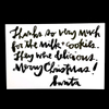 purchase herekids have been leaving jolly old st. nick milk + cookies since the beginning of time. sadly, the big guy very rarely acknowledges this sweet gesture. this year, validate the magic of christmas with a thank you note from santa himself.printed on a glossy 4{quote} x 6{quote} note cardcrafted in boulder, colomade in the usa