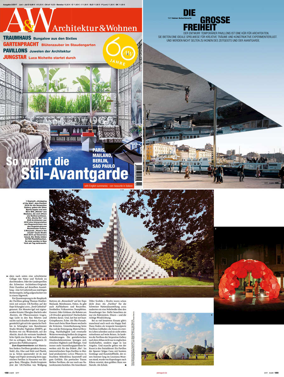 PRESS GALLERIES: Architektur U0026 Wohnen Magazine:  Pg_website_0001_Architecture And Wohen_page