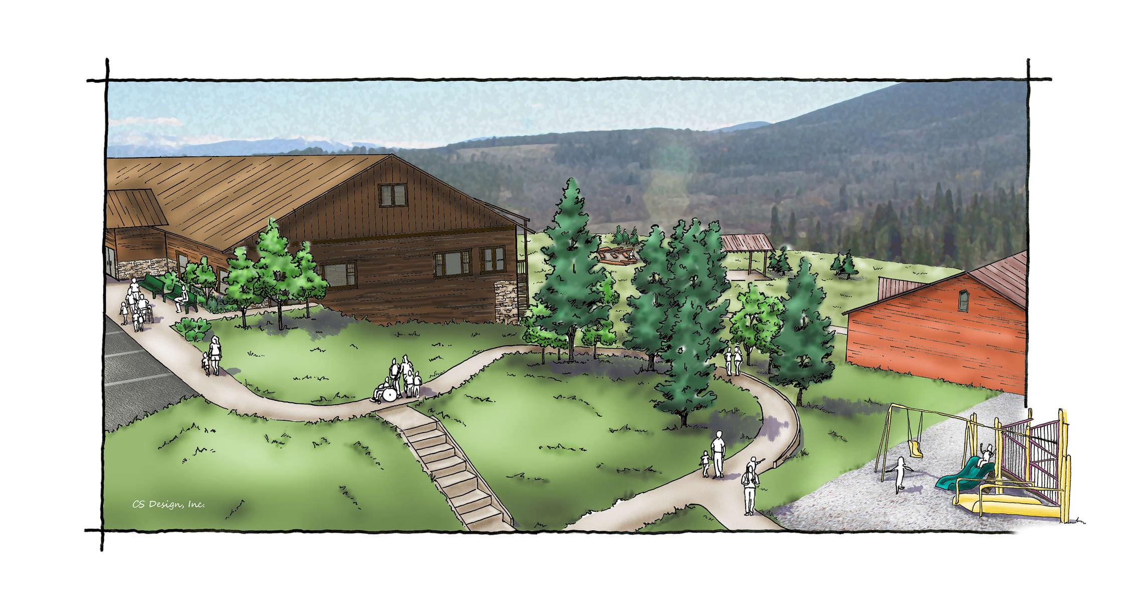 Adam's Camp rendered perspective