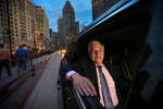 George Jacobs, CEO of Windy City Limosine, poses for a photo in Downtown Chicago, on May 19, 2014. Manuel Martinez/Crain's Chicago Business
