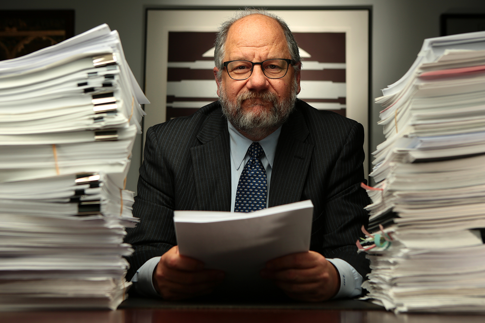 Robert Fishman, Attorney of Law at Shaw Fishman poses for a portrait at their office in downtown Chicago on November 19, 2014.  Manuel Martinez/Crain's Chicago Business