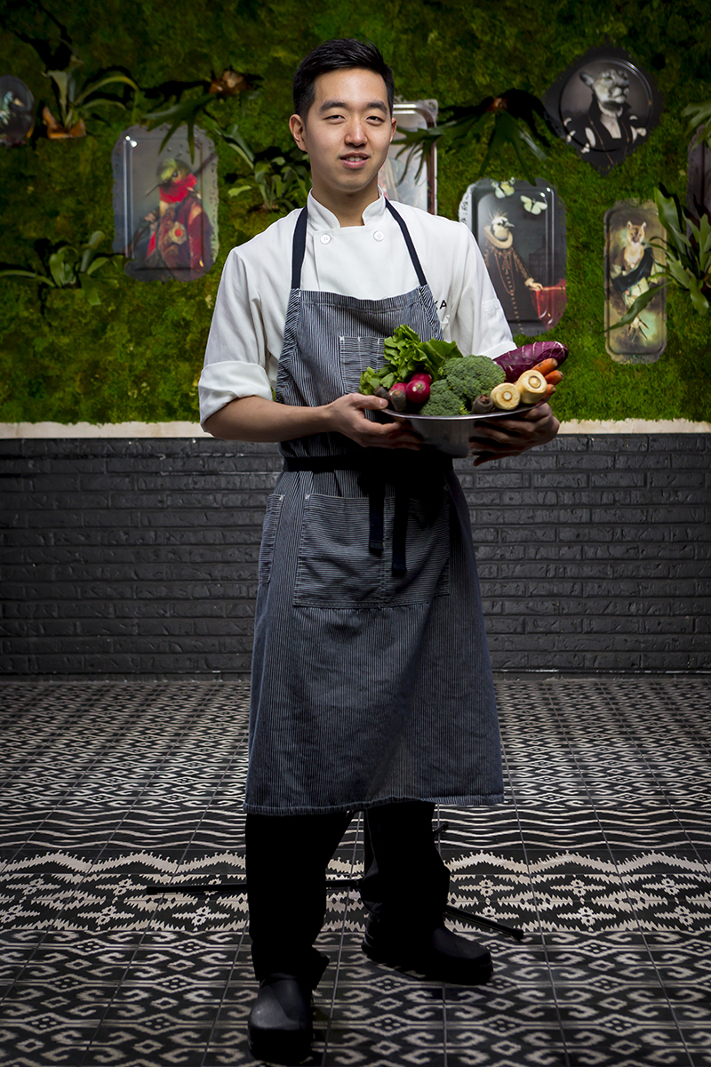 Eddie Lee, chef at Boka Restaurant poses for a portrait on January 28, 2015 at Boka Restaurant in Lincoln Park . Manuel Martinez/Crain\'s Chicago Business
