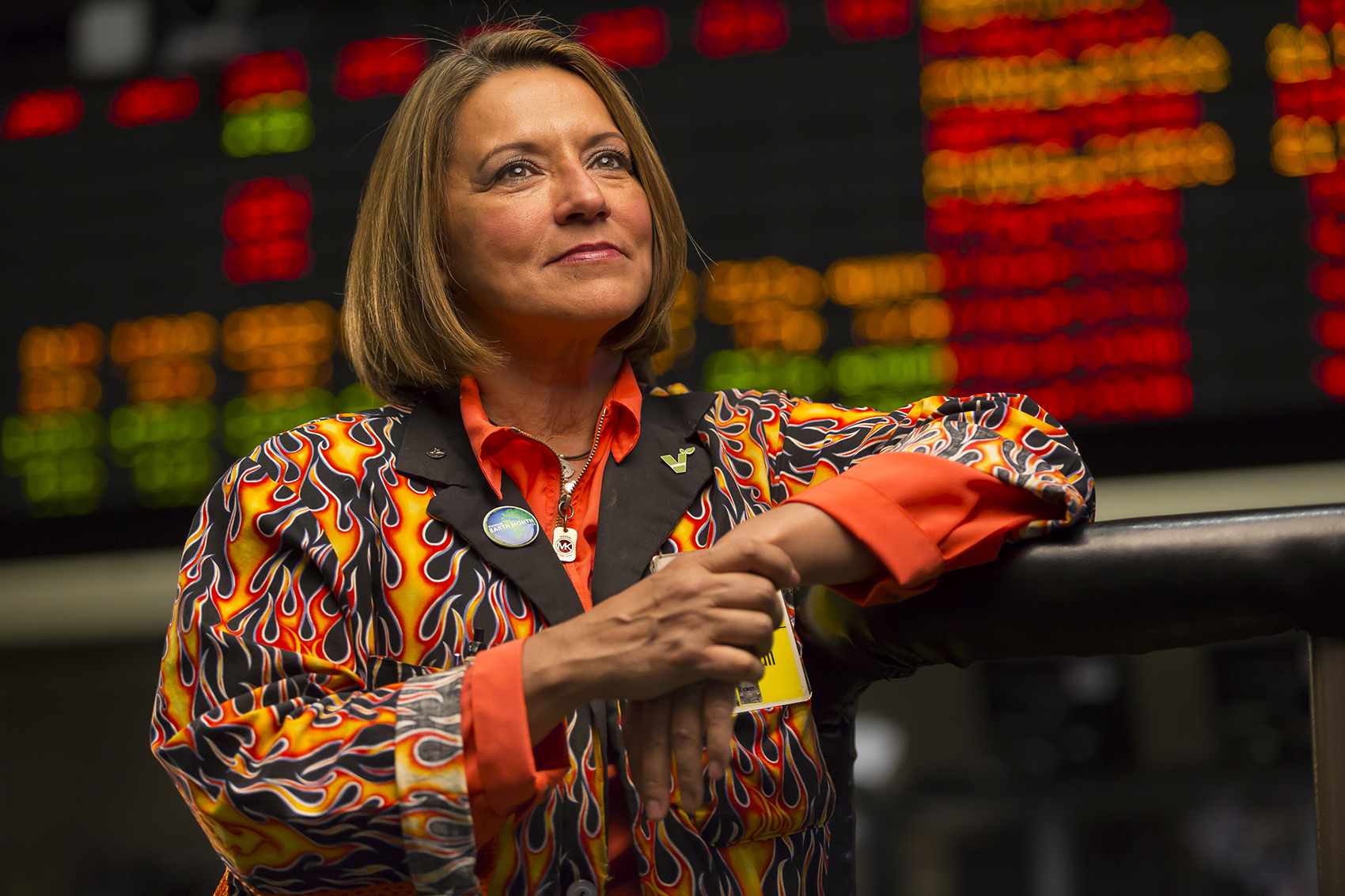 Virginia McGathey, poses for a portrait on the floor of the Board of Trade in Chicago on May 20, 2015. Manuel Martinez/ Crains Chicago Business