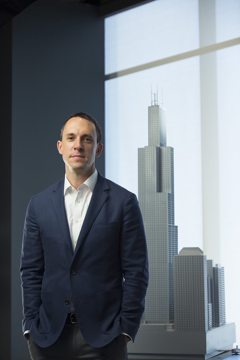 David Moore, Senior Vice President, HL Group poses for a portrait at their corporate office in downtown Chicago  on October 25, 2017.  Manuel Martinez/Crain's Chicago Business