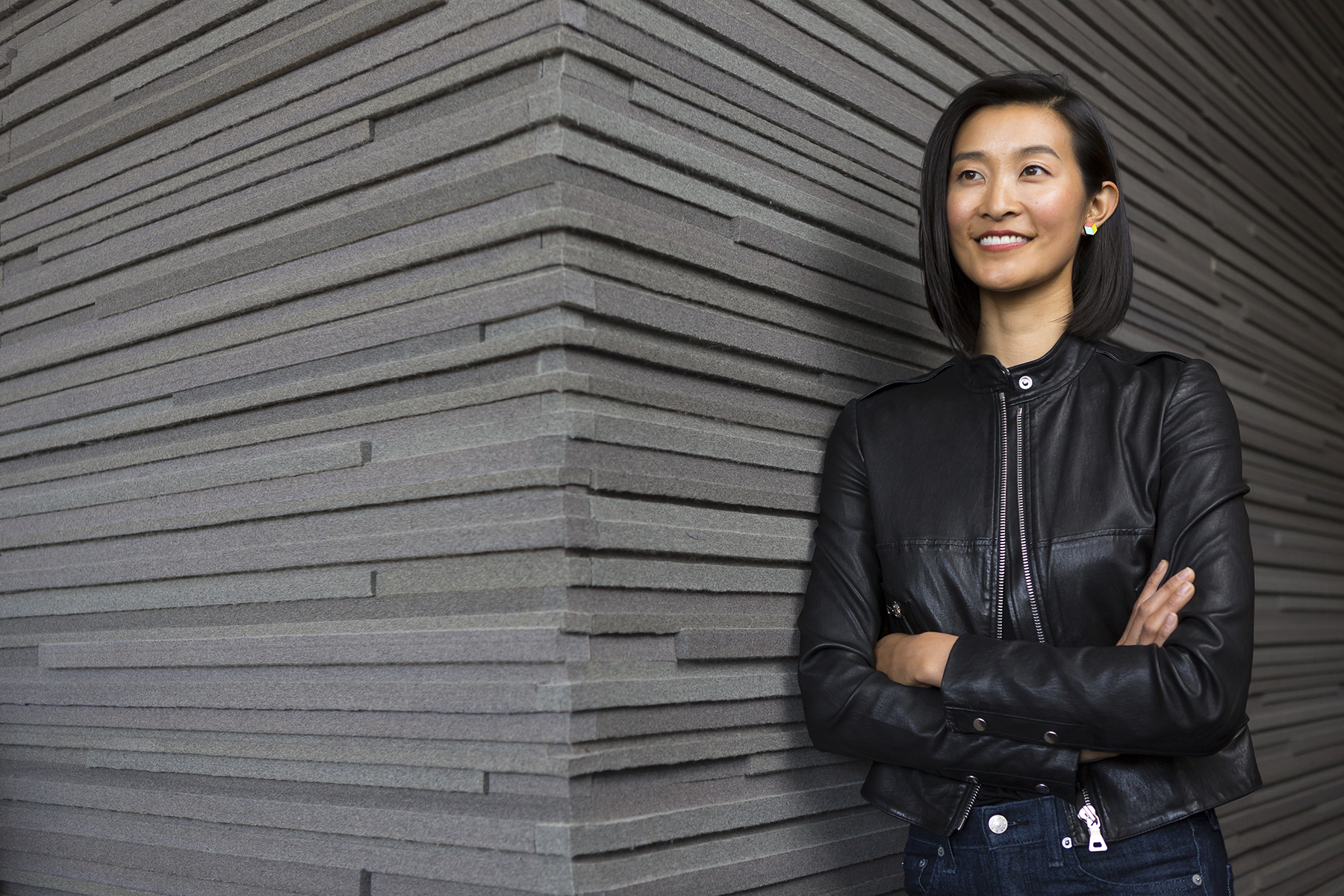 Claire Lew, CEO, KnowYourCompany, poses for a portrait at the  Basecamp HQ offices in Chicago on April 17, 2018. Manuel Martinez/Crain's Chicago Business