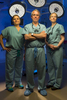 Left to Right, Dr. Ann M. Zmuda, Dr. Christopher Skelly, and Dr. Trissa A. Dabrowski, founders of the Limb Salvage Center, pose for a portrait in an operating room located at University of Chicago Medical Center, on June 24, 2015. Manuel Martinez/Crain\'s Chicago Business