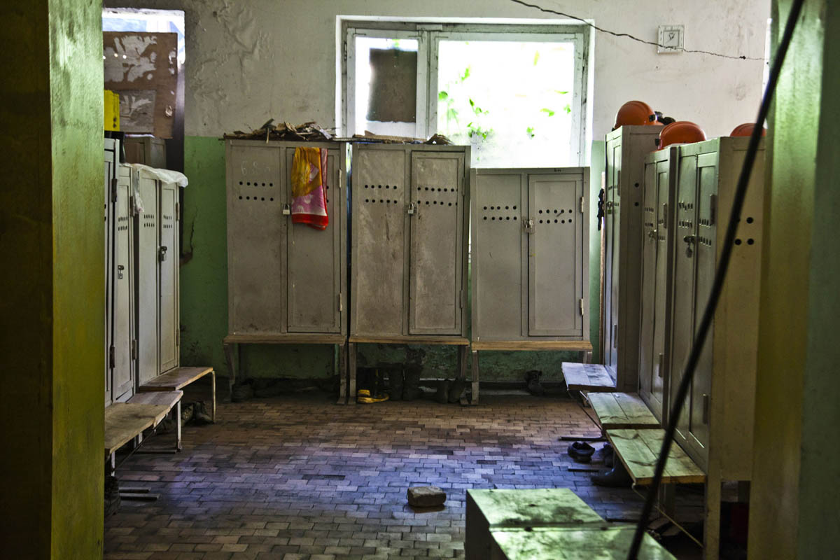 Georgia, Chiatura City. A locker room used by the miners.