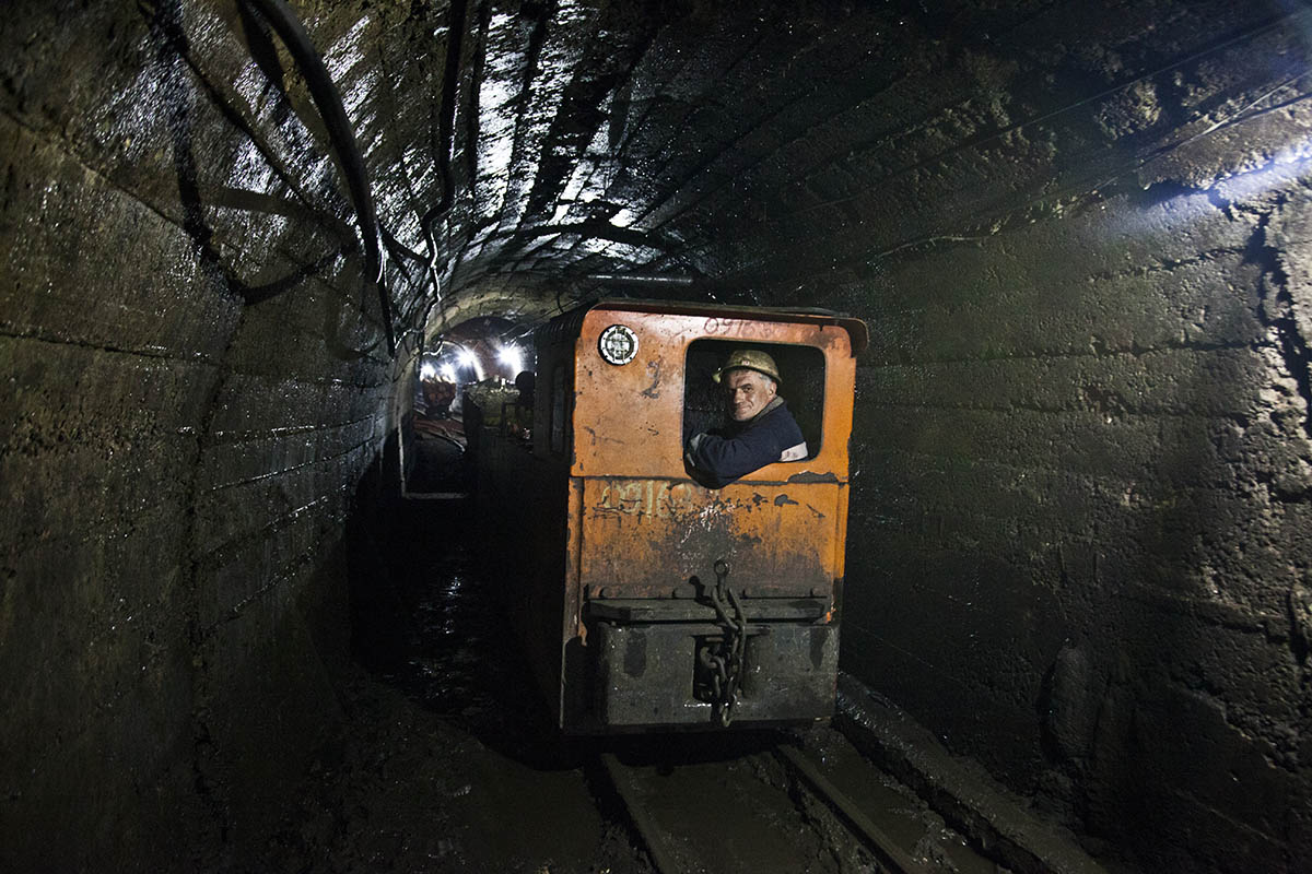 GEORGIA. Mineworker. Machinery in mines has never been upgraded. It has never been stopped for repairs and is replaced only if it fails during work.