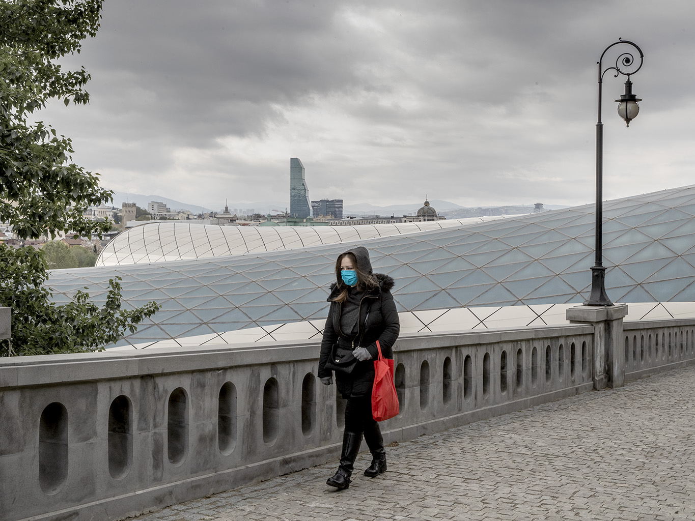 Adjusting to the new way of life, you can spot people wearing masks, even if the streets are empty.