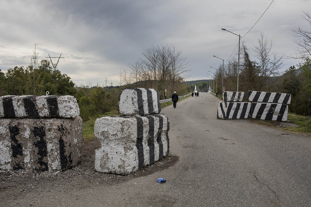 GEORGIA. 2017. On the road to Enguri checkpoint, which is counted to be the only remaining checkpoints between the de facto region of Abkhazia and Georgian controlled territory. It is almost unreal to cross with a Georgian Passport.