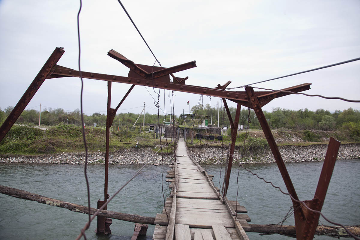 GEORGIA. 2016. This bridge, in Napati village, was previously one of the main border crossings between Abkhazia and the rest of Georgia. It was once used for a railroad but was bombed in 1993. While it remained intact at the time of this photograph, it is no longer standing.