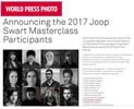 The World Press Photo Foundation is pleased to announce the names of the 12 young photographers who will participate in the 24th edition of the prestigious Joop Swart Masterclass.https://www.worldpressphoto.org/academy/2017-joop-swart-masterclass