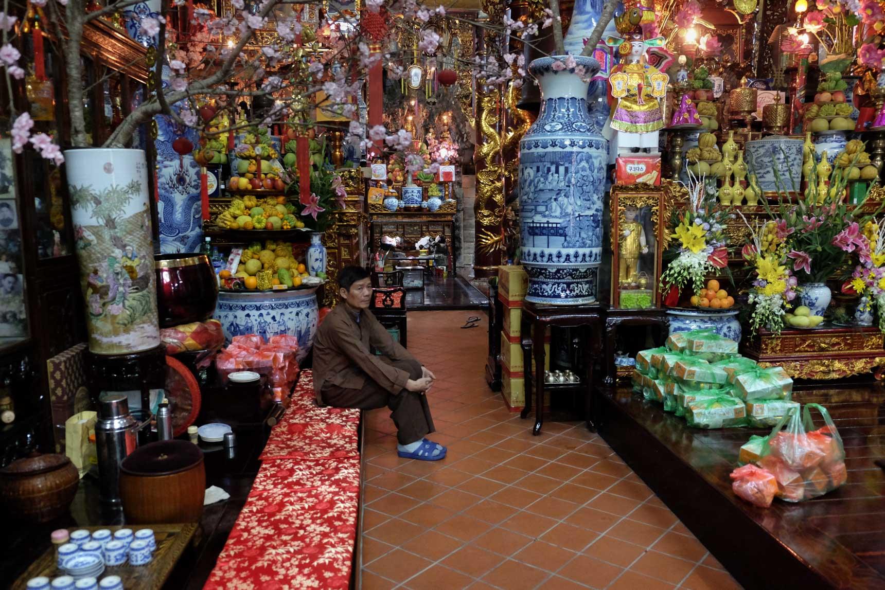 Vietnamese Temple Caretaker