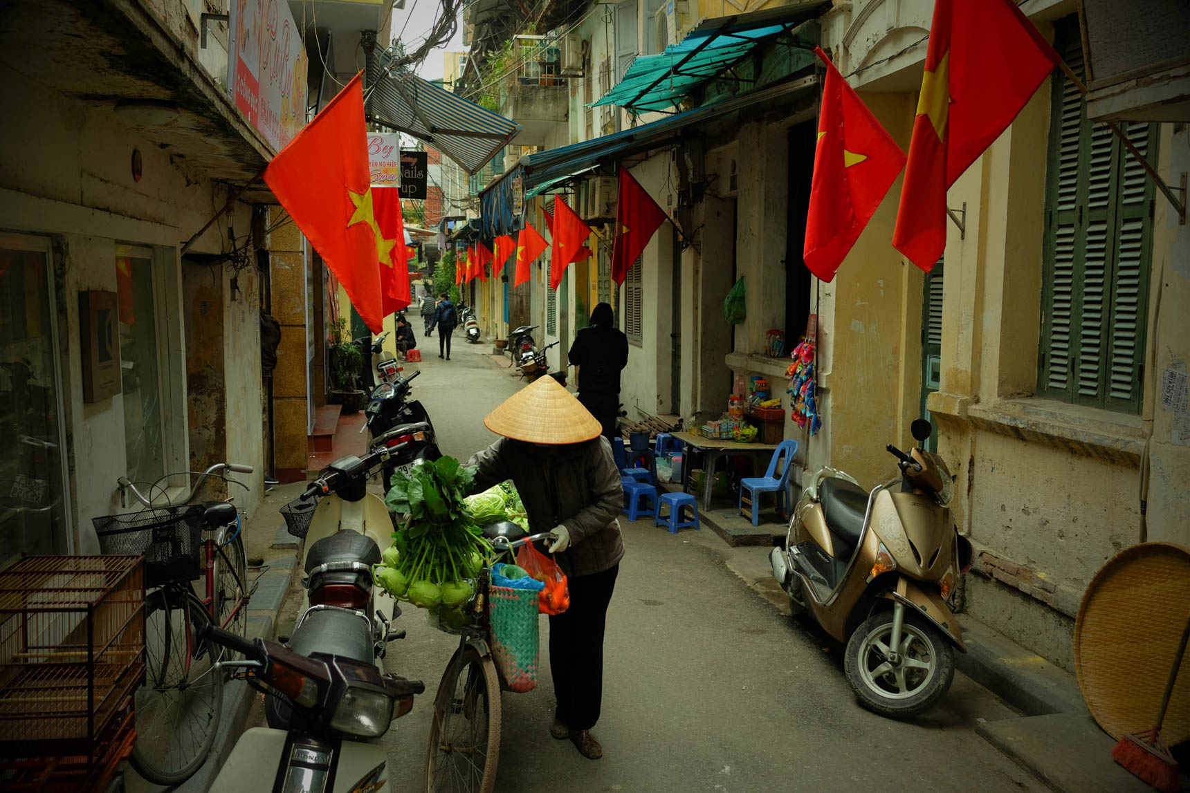 Flags Displayed for Tet New Year