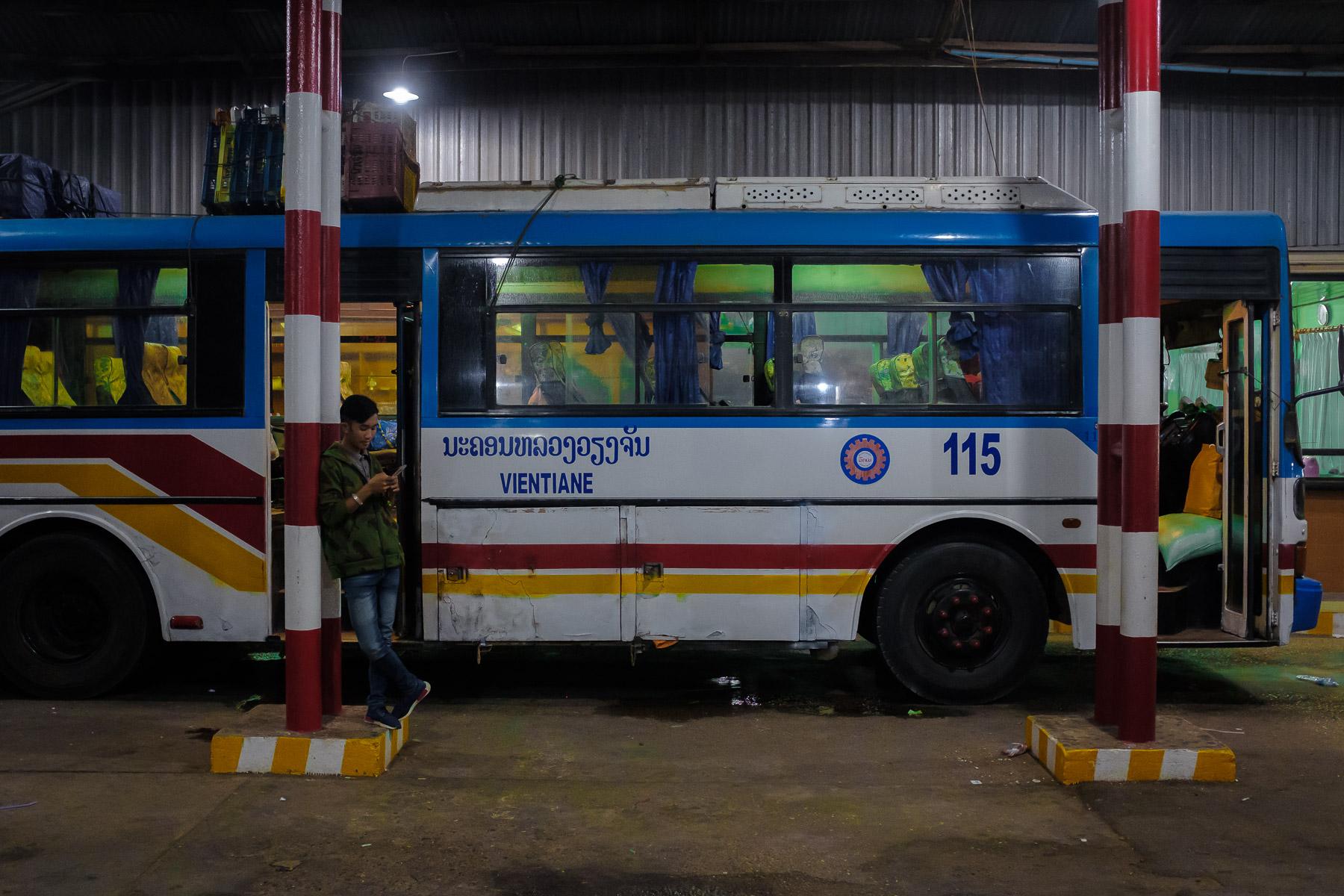 Bus station, Thakhek