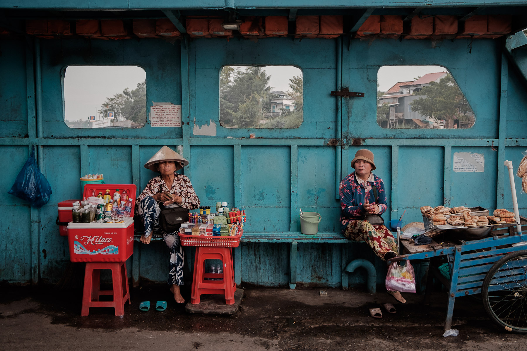 Ferry, Châu Đốc, Mekong Delta