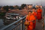 Crossing the Mekong River, Pakse